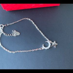 Brand new 925 Moon and star silver bracelet